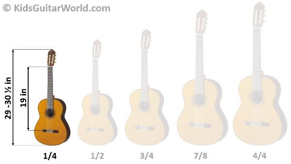 1/4 Guitar - The smallest guitar for kids - KidsGuitarWorld