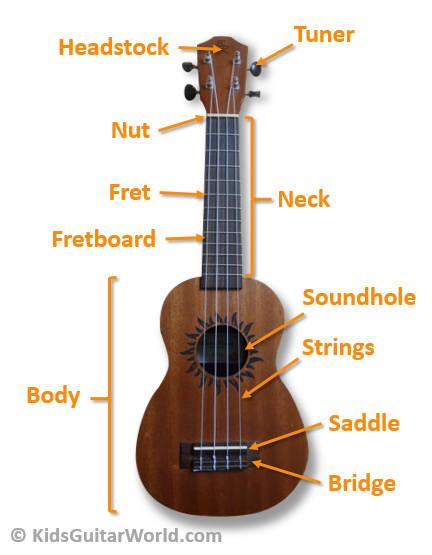 parts of ukulele