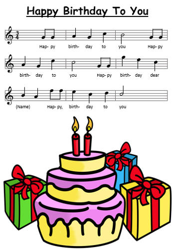 Happy Birthday To You - Sheet Music, Chords and Tabs - KidsGuitarWorld