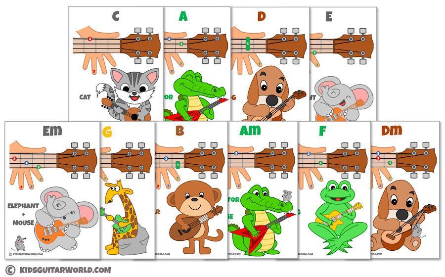 ukulele chord sheets for kids