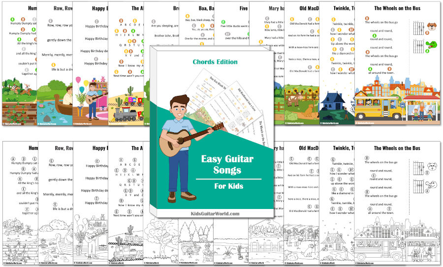 easy guitar songs for kids