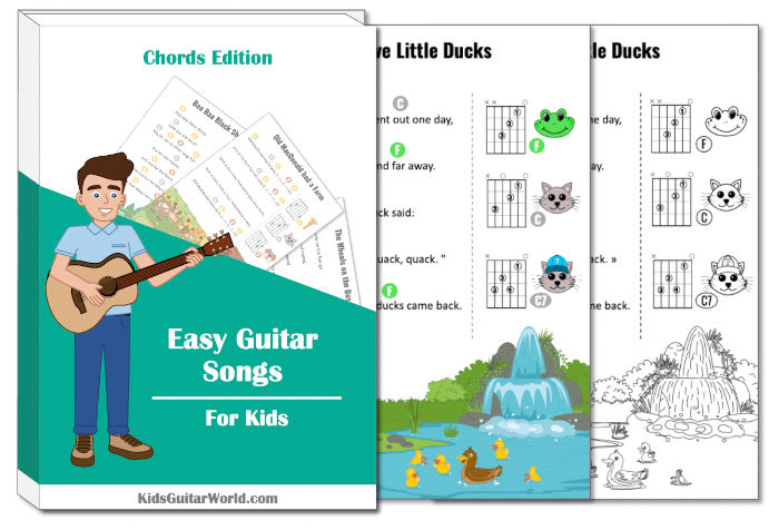 five little ducks guitar