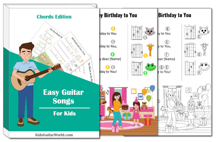 learning happy birthday to you guitar