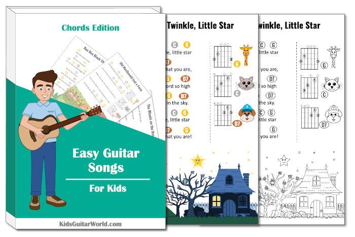 twinkle twinkle little star guitar printables